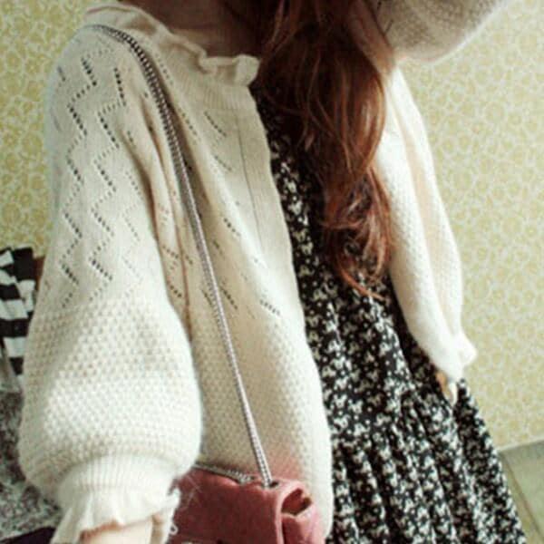 ニットカーディガン♡コート 春秋にのゆったりセーターの外をかけて   韓国ファッショ  春秋   短い