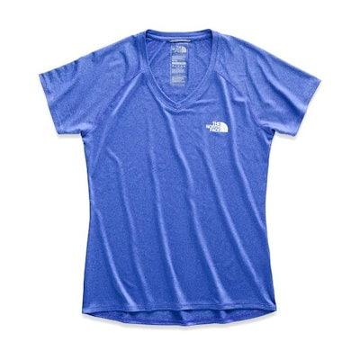 The North Faceノースフェイス  Tシャツ  半袖  レディース/ウィメンズ  Vネック  リアクション  アンプ  アウトドア  XS~XXL  トップス 新作  NFW2-1-026