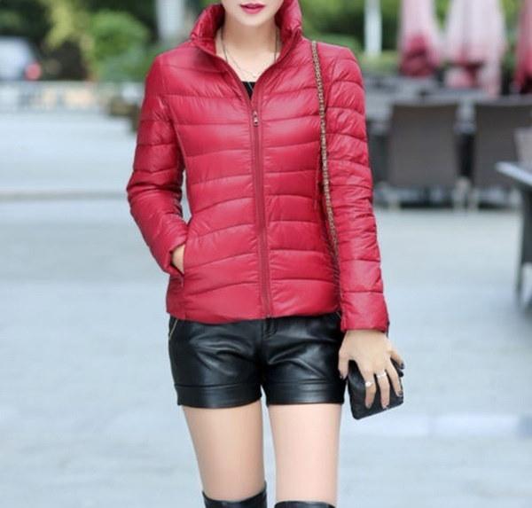ホットセリング新女性ダウンスタンドカラージャケット超軽量アウトドアパッキング