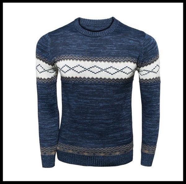 ホット! 2015新しい高品質のブランドツイストセーターニット冬メンズコットンセータージャンパープルーブ