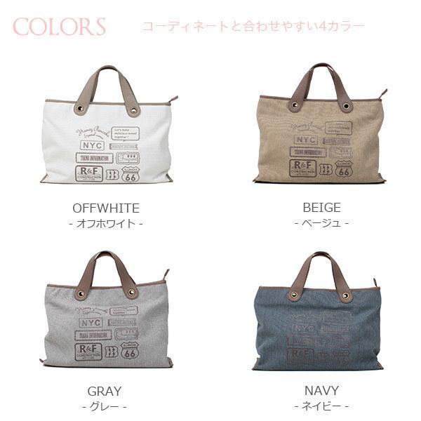 日常のお買いものからお出かけ、ちょっとした外出時にも便利に使えるトートバッグ♪荷物もしっかり収納できるのもポイントの一つ。カジュアルに使いやすいベーシックカラー4色で展開。