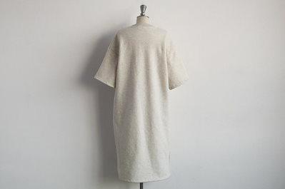 [ナンニン9]【送料無料】レディース ワンピース Tシャツ 無地 シンプル 裏起毛 ロング 冬 Tシャツワンピース 7分袖 スリット ロングワンピース ゆったり 暖か ふわふわ 柔らか naning9