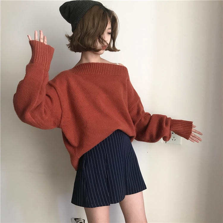 [55555SHOP]裏/小/秋冬/女性服/韓国風/ルース/手厚い/首輪/ヘッジ/セーター/アウターウェア