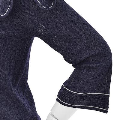 [SAY公式ストア]【COMPAGNA]リボン飾りラウンドネックニットティーCA8U4-WSL020