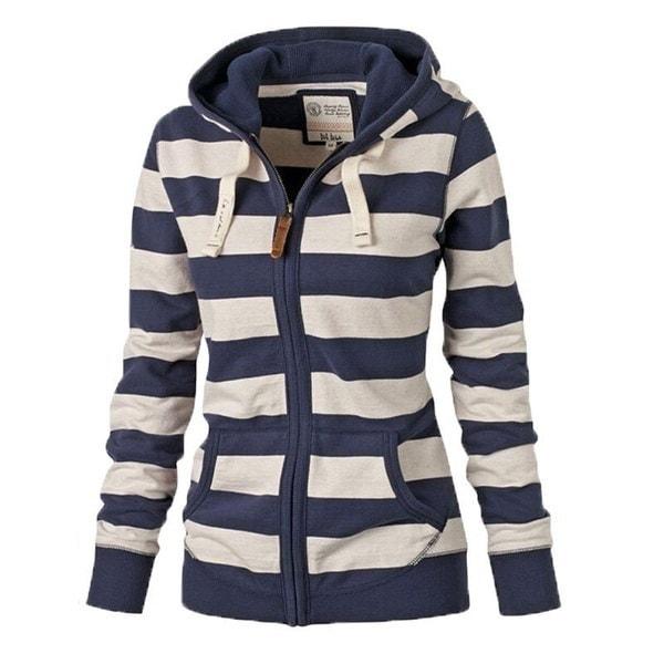 女性長袖ジッパーウォームパーカースウェットジャンパーセータートップフード付きジャケットコートプラスサイズ(S-4X)
