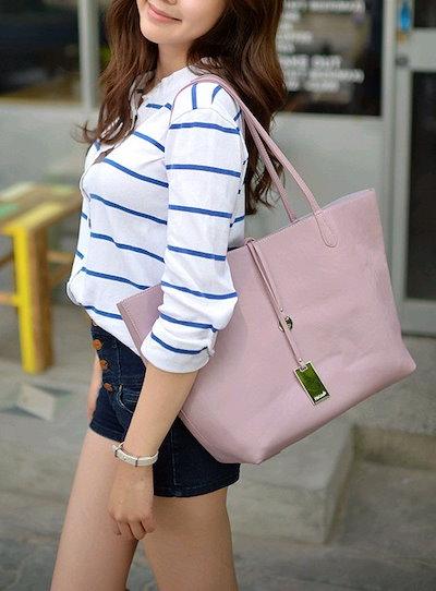 [新着] Twoway Shopper Bag/ショッパーバッグトート/クロス/ハンドバッグ韓国のスタイリッシュなデザインは、アイテムを持っている必要があります