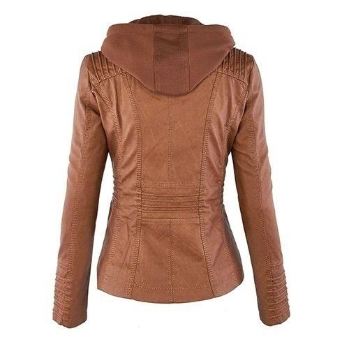 新しい到着プラスサイズの女性ファッション秋冬コートジャケットロングスリーブジッパー新しい女性のスタイリッシュ