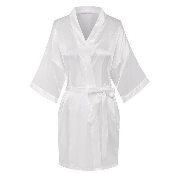 女性のファッション浴衣サテン結婚式の花嫁とメイドの名誉ローブ