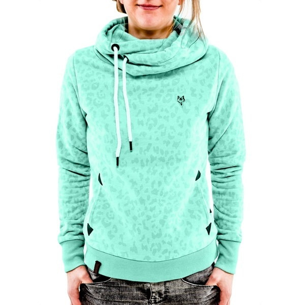 スタイリッシュな女性のレジャースリムなヒョウプリントプルオーバーセーターシャツ