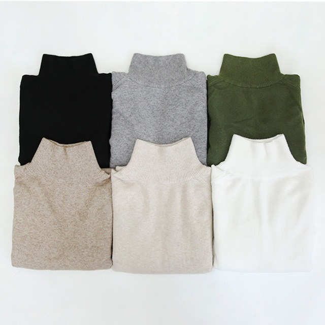 Knit loose fit knit Nasu soft knit material Daily loose turtleneck knitted with a good fit every day