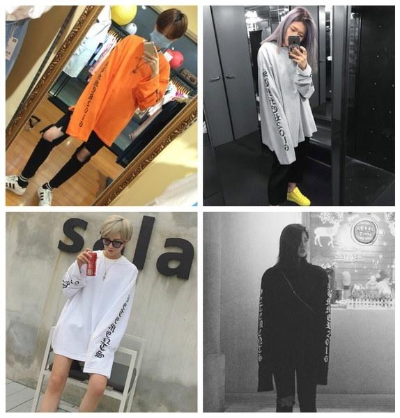 ファッションロングスリーブOversize Vetementsオレンジコットンスウェットカップルの女性のパーカーJUP