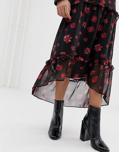 ミニマム レディース スカート ボトムス Moves By Minimum floral midi skirt