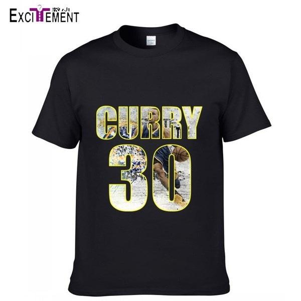 2017トレンディーな新しいバスケットボールのパターンスティーブンカレーコットン半袖Tシャツプラスサイズ