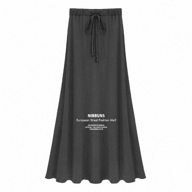 【韓国 ファッション】☆キレイスリム スリット マキシスカート 2色 タイト フレア☆脚長効果抜群!セクシー 送料無料!素敵 フリーサイズ♪ ※納期に10日から14日ほどかかります。