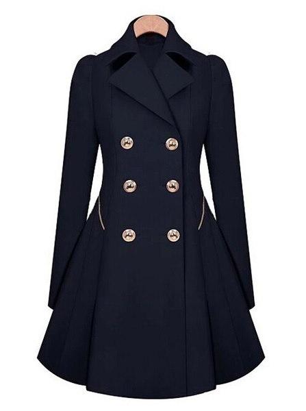 女性のファッションEuramericanスタイルのトレンチコートドレスコート