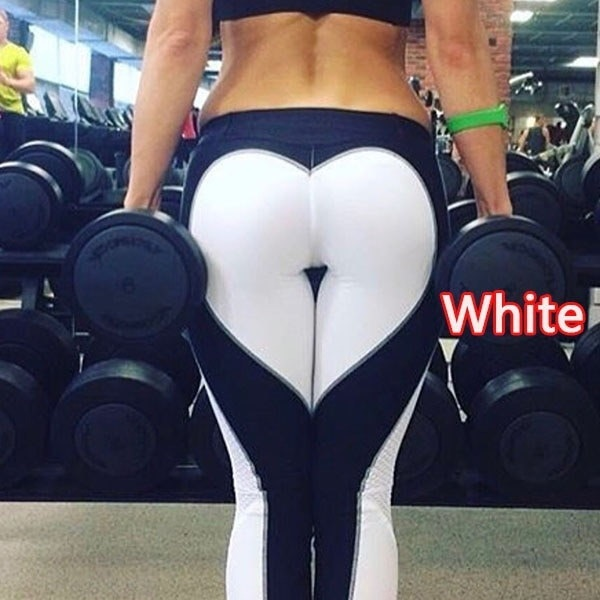 女性は黒と白のレングスを愛するハイウエストプリントヨガジムフィネスエクササイズカジュアルプラスサイズボット