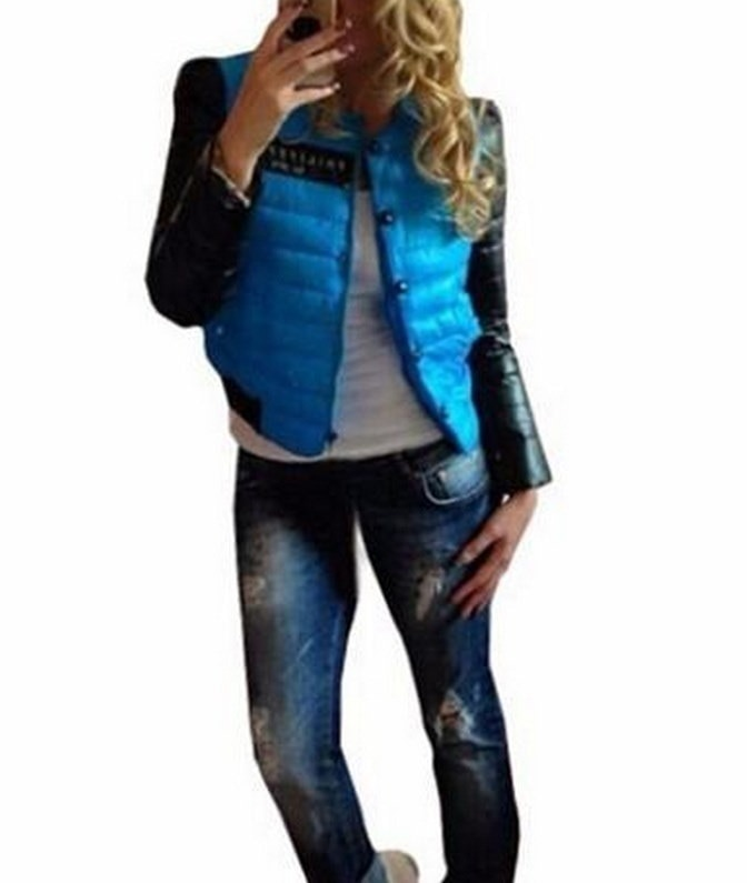 新しいファッションの女性のコートの冬服カジュアルプリント下ボタンO首フルスリーブのコート