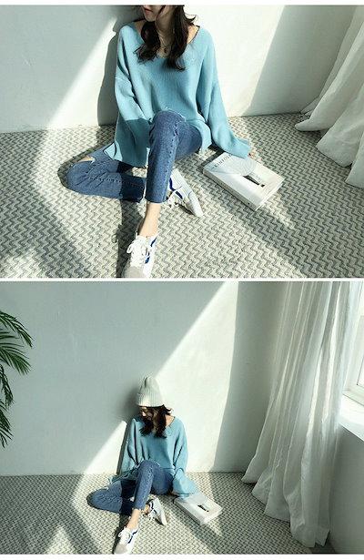 [ナンニン9]【送料無料】デニムパンツ ジーパン ジーンズ レディース 美脚パンツ ブーツカット ボトムス 秋冬 大きめ デニム 裾フリンジ  naning9