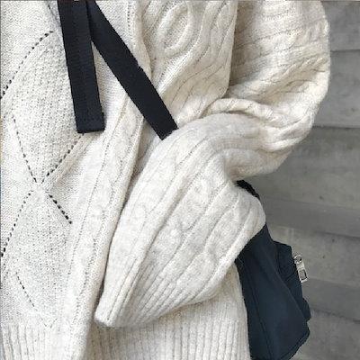ニット セーター カジュアル ゆったり シンプル Vネック 可愛い 無地 通学 散歩 デコルテ モテコーデ グレー ベージュ