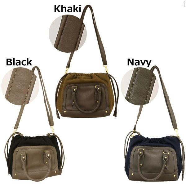 リボンハンドル2WAYバッグ/bag6162【送料無料】/バッグ/ハンドバッグ/ショルダーバッグ/2WAY/コンパクト/