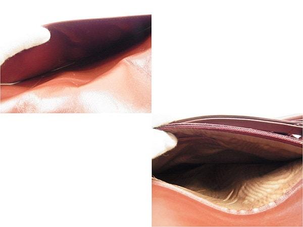 カルティエ Cartier クラッチバッグ  メンズ可  マストライン ボルドー×ゴールド レザー 訳あり セール 【中古】 T334 .