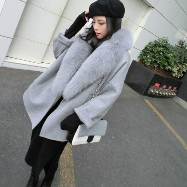 2017レディースカシミヤコートロングジャケットオーバーコート冬暖かいアウトレットマタニティファーパーカー