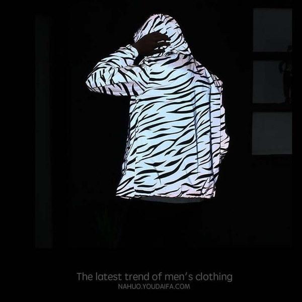 2017メンズレディースジャケットカジュアルハイポップウインドブレーカーナイトスポーツコートフード付き蛍光灯