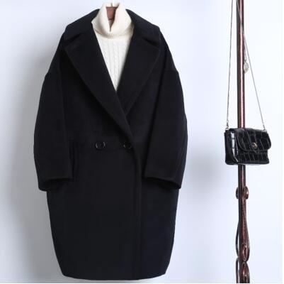 (55555SHOP) 韓国ファッション トレンチロングコート ロング丈アウター 秋冬ジャケット 防寒効果もバッチリ! レディースファッション/ほどよいミドル丈は体型カバーをしてくれて、シーズンの体を温かく包んでくれます トレンチコート ジャケット アウター 大襟 トップス  セール カットソー チュニック カーデ