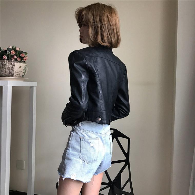 【安心Qxpress発送】韓国ファッション コート ♥PU ジャケット コート レディース服