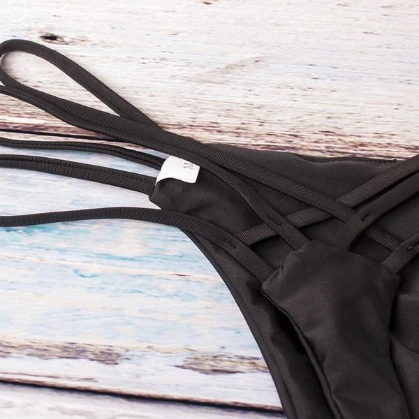 2018年の新しいブラジルのGストリングの皮ひものセクシーなビキニのボトムススイミング水着Biquinis女性の水着