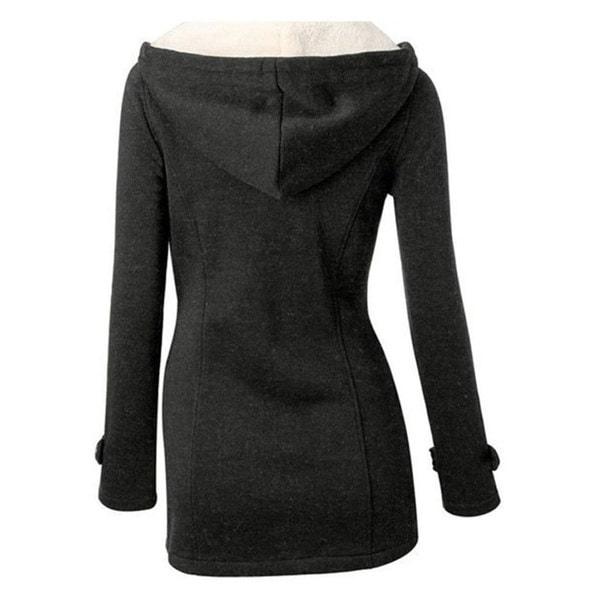 ファッションウィンタークローズクラスプレディースウールブレンドクラシックピーコートジャケット