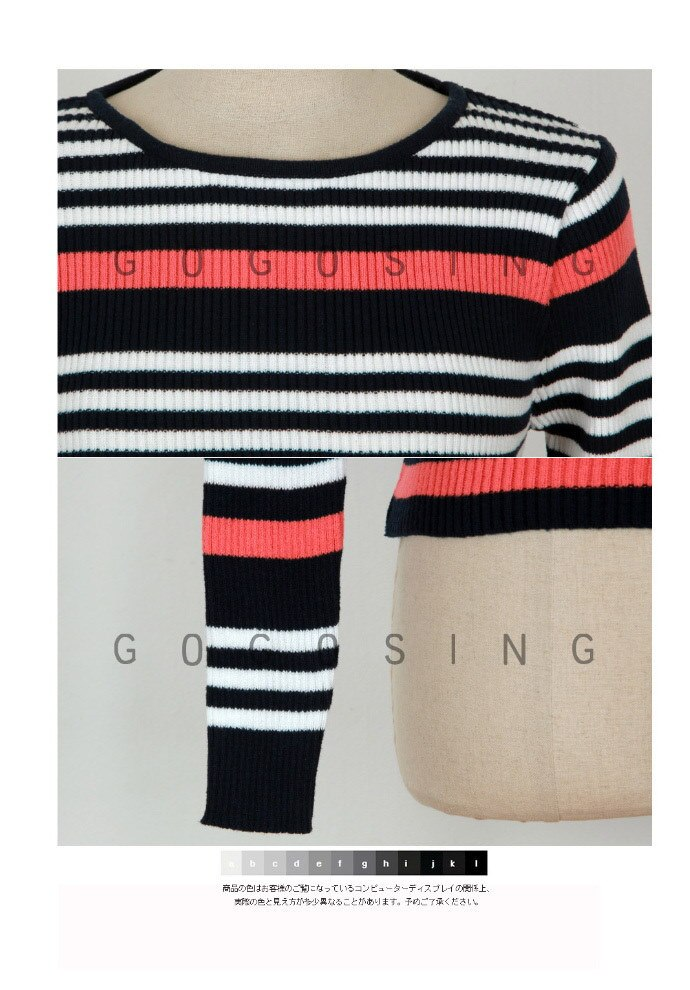 【GOGOSING】Fallストライプニット★秋ニットレディースニット韓国ファッション p000bwxx