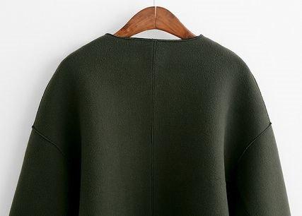 ノーカラ― 長袖 カジュアル シンプル ジャケット オシャレ