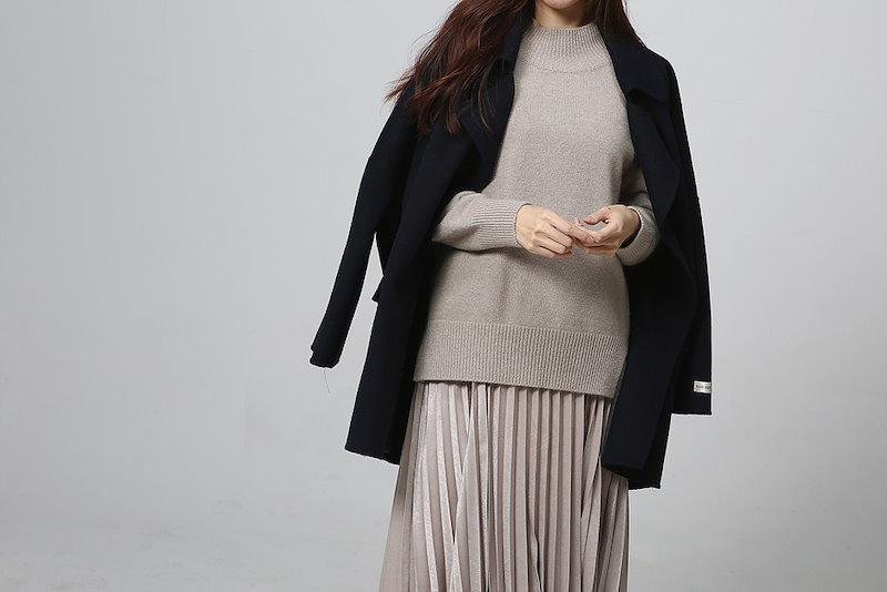 【送料無料】スリットを施したデザインなので、カジュアル過ぎず、女性らしい雰囲気に。ニット トップス プルオーバー 冬 秋 オーバーサイズ 大きいサイズ スリット アンゴラ ウール ニット 長袖 ラグラ