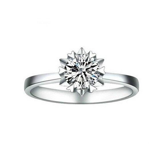 女性のファッションジュエリー925スターリングシルバーの婚約指輪