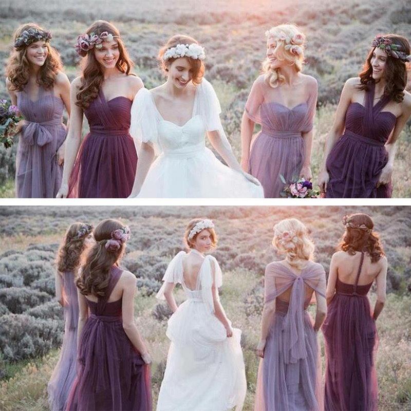 レディースセクシーレースノースリーブパーティーイブニングドレス花嫁介添人ドレスウェディングドレス5色XS-XXXL