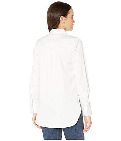 トリバル レディース シャツ トップス Stretch Shirting Roll Up Sleeve Shirt