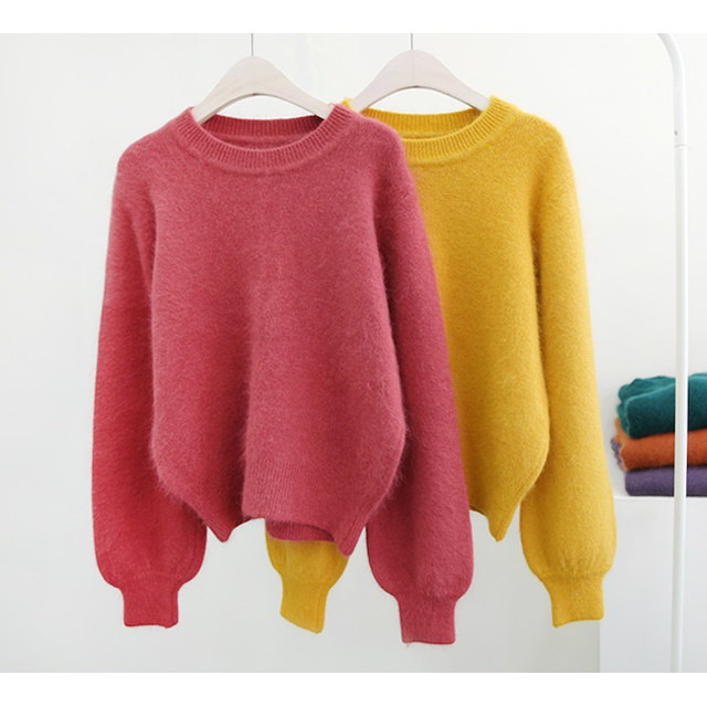 Puff Angora Knit Angora knit with lovely designs and emotional colors