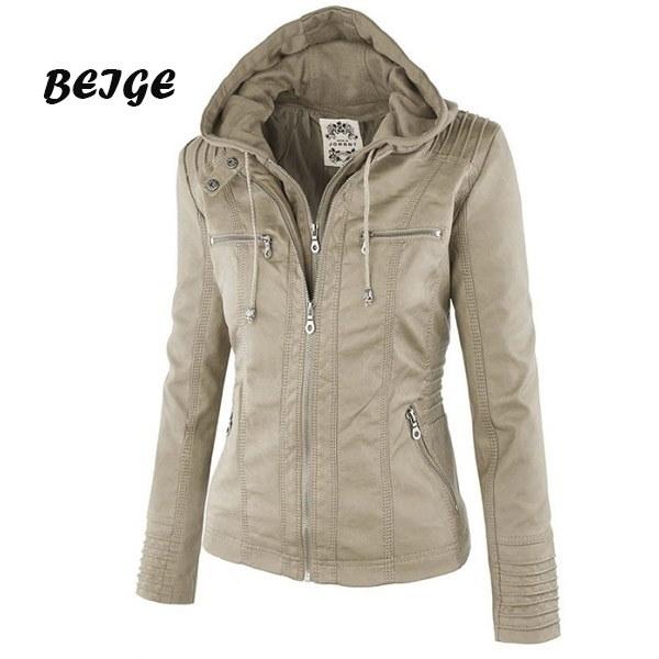 プラスサイズXSは -  7XL新しい到着の女性ファッション秋冬コートジャケット長袖ジッパースタイリッシュなスリ