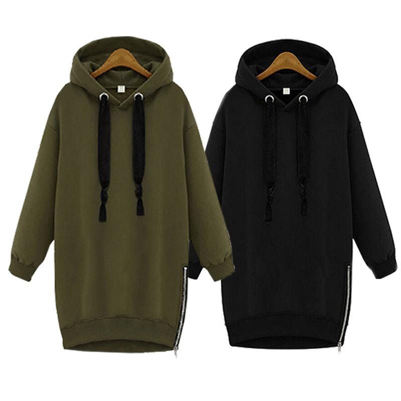 人気の傾向★ヨーロッパの駅新しい秋と冬の緩い、ヘッジフード付きコート★ひもの長いセーターのセーター★大サイズの長袖ジャケット