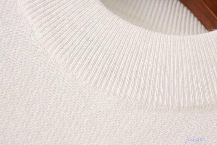 全3COLOR レディース 兎の毛切り替えニット あたたかい ニットチュニック セーター秋冬物 ピンク、ホワイト、ブラック