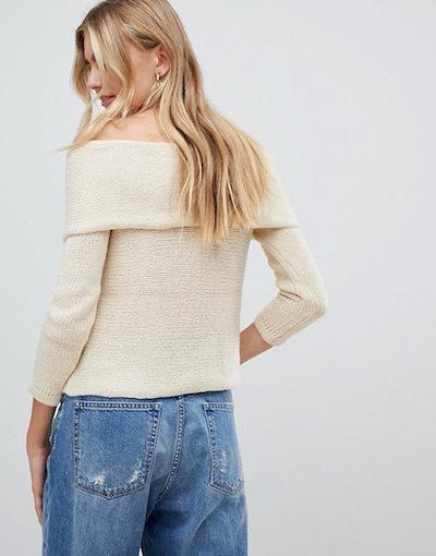 グラマラス レディース ニット・セーター アウター Glamorous off shoulder sweater