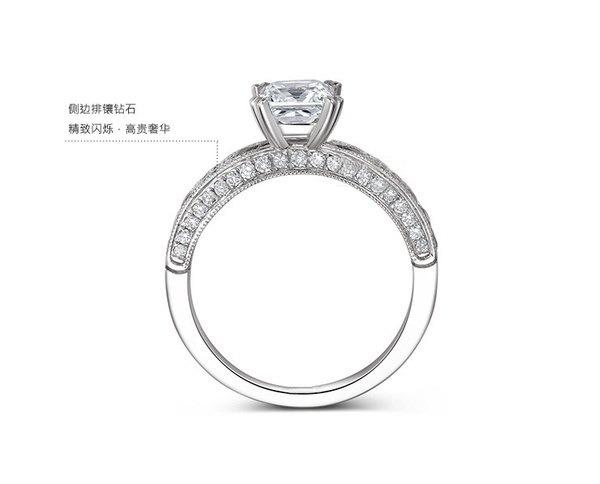 ブルーダイヤモンドリングバロックサファイアダイヤモンドドリルプリンセスダイヤモンドリング結婚祝い