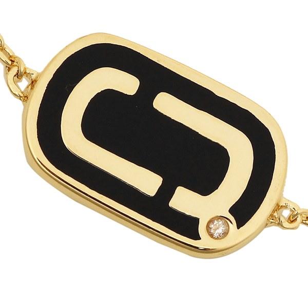 マークジェイコブス ブレスレット アクセサリー MARC JACOBS M0012393 065 DOUBLE J ENAMEL レディース バングル BLACK/GOLD