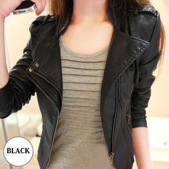 ライダースジャケット レザー ブルゾン レザージャケット レディース アウター トップス ジャンバー 革 合皮 黒 ブラック ショート丈 韓国 ファッション