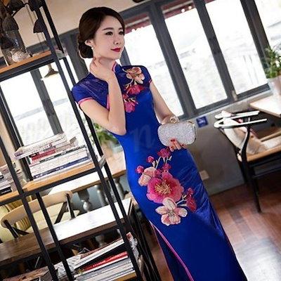チャイナドレス ロング チャイナドレス コスプレ チャイナドレス セクシー チャイナドレス 大きいサイズ レディース チャイナドレス 白 半袖