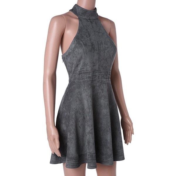 夏のレディースドレス純粋な色のセクシーなドレス