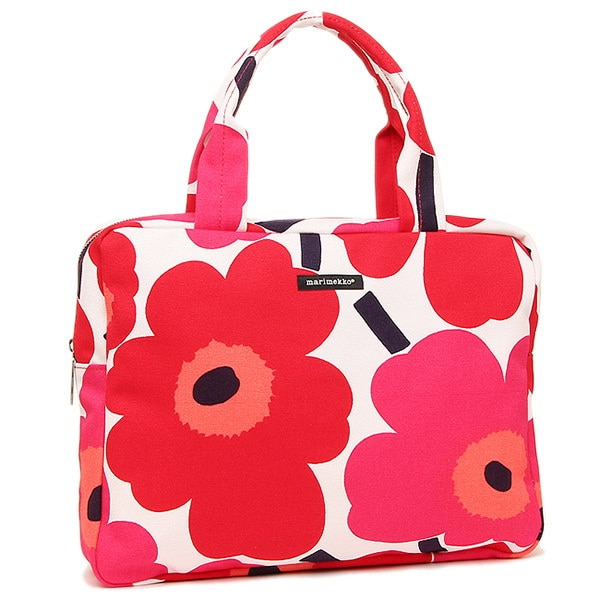 マリメッコ バッグ MARIMEKKO 043460 001 ESTERI UNIKKO ウニッコ ハンドバッグ WHITE/RED