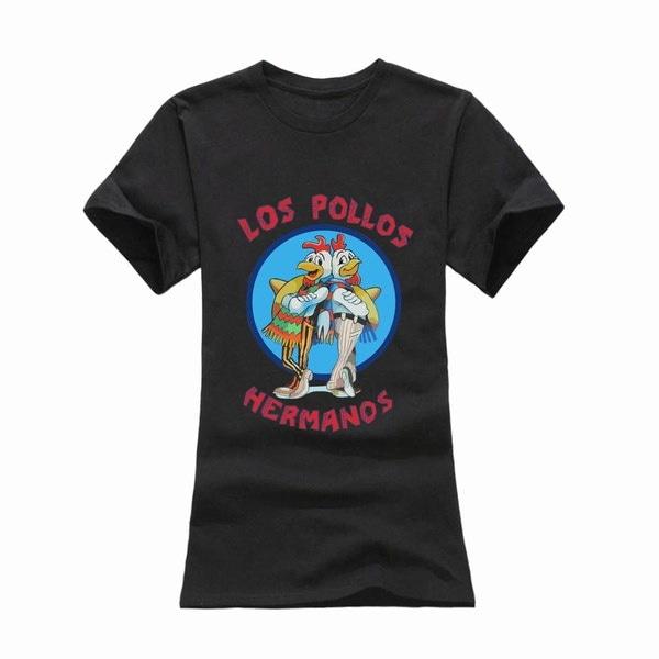 Los Pollos Hermanos TシャツチキンブラザーズレディースTシャツ2016 New Short Sleeve Cott