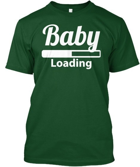 Baby Loading Maternity Pregnancy Hanes Tagless Tee T-Shirt